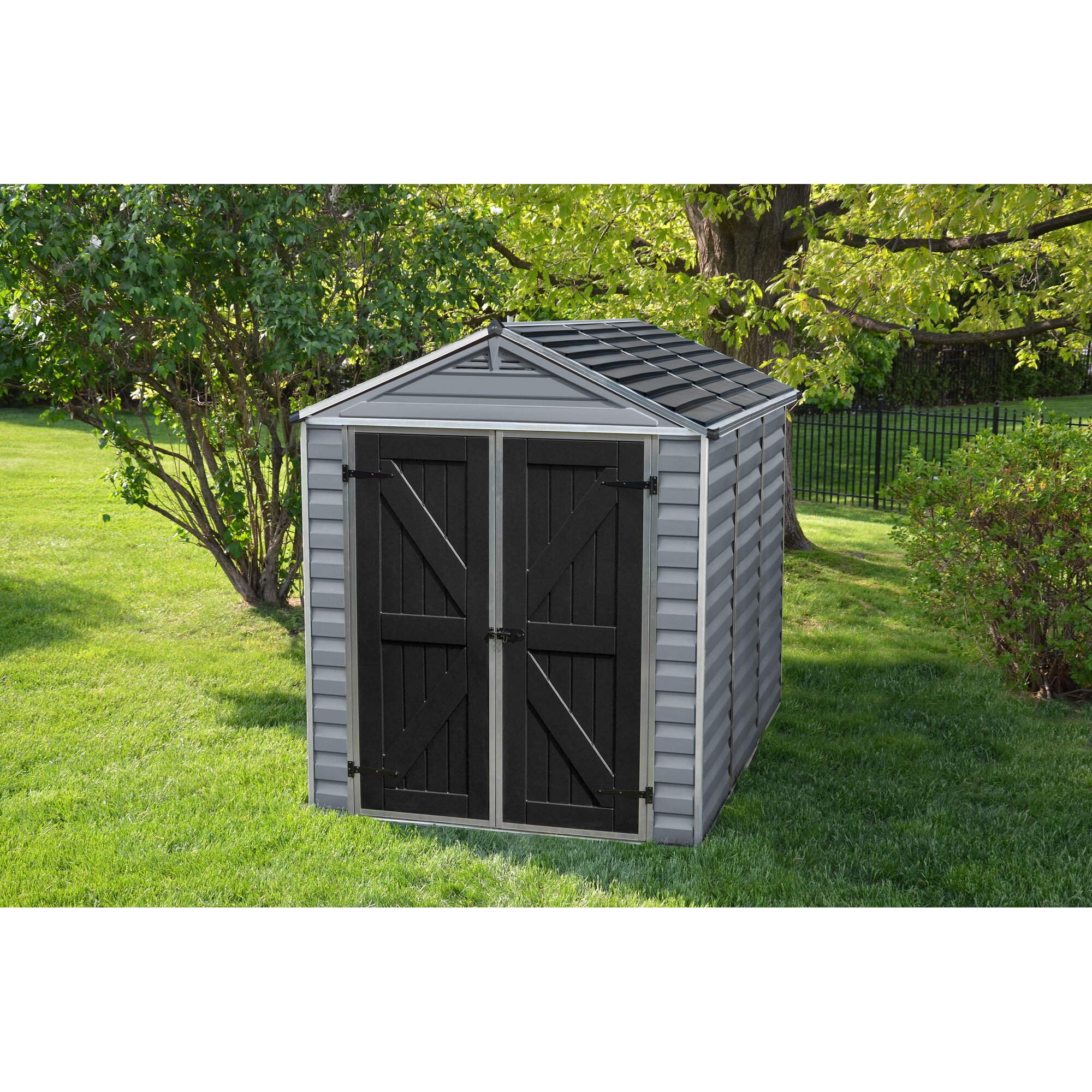 Palram SkyLight 6 ft. W x 10 ft. D Plastic Storage Shed ...