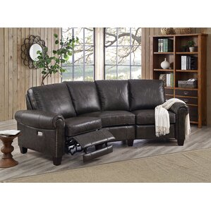 arlington leather reclining sectional