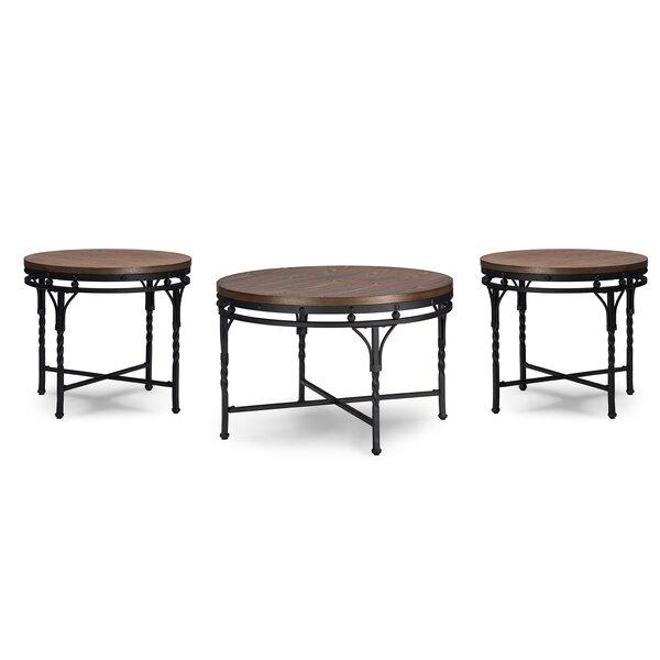 latitude run nikanor 3 piece coffee table set & reviews   wayfair