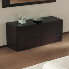 City 6 Drawer Dresser by Calligaris