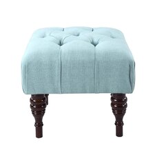 Bach Button Tufted Sculpted Leg Ottoman by Iconic Home