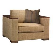 Island Fusion Fuji Armchair and Ottoman by Tommy Bahama Home