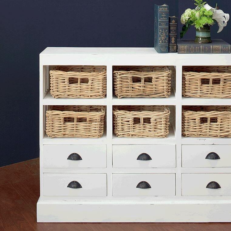 Goulding 6 Drawer and 6 Basket Storage Cabinet - Beachcrest Home™ Goulding  6 Drawer And - Basket Storage Cabinet Cymun Designs