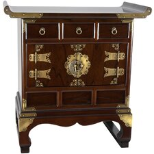 Korean 3 Drawer End Table Cabinet by Oriental Furniture