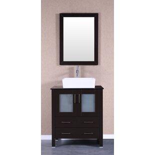 Reviews Luverne 30 Single Bathroom Vanity Set with Mirror ByBreakwater Bay