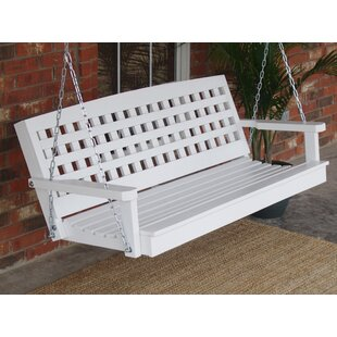 August Grove Petty Lattice Back Style Porch Swing