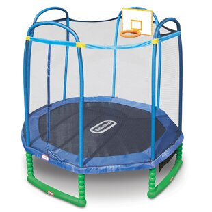 Little Tikes 10' Round Sports Trampoline with Safety Enclosure