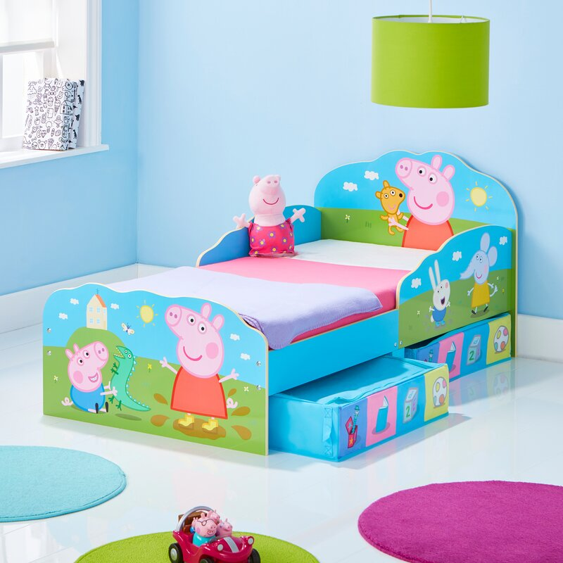 Peppa Pig Toddler Bed Frame With Storage Drawers Wayfaircouk