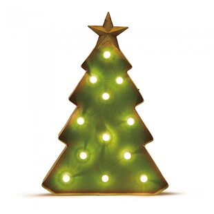 holiday marquee tabletop tree