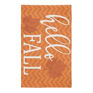 Best Reviews Shotwell Hello Fall Chevron White/Bright Orange Area Rug By Latitude Run