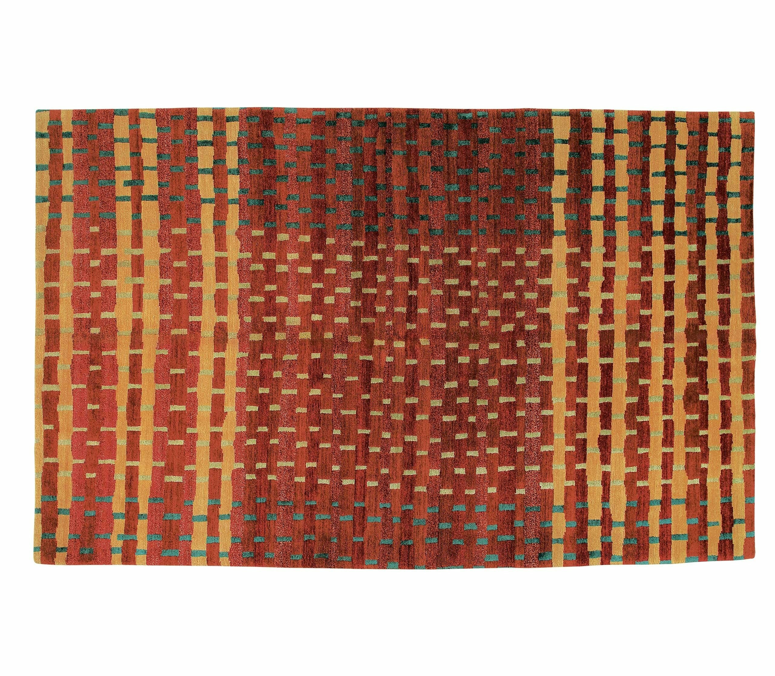 Tufenkian Abstract Hand Knotted Wool Silk Red Area Rug Wayfair