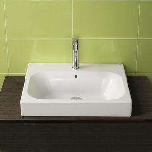 Bissonnet Universal Ceramic Rectangular Drop-In Bathroom Sink with Overflow