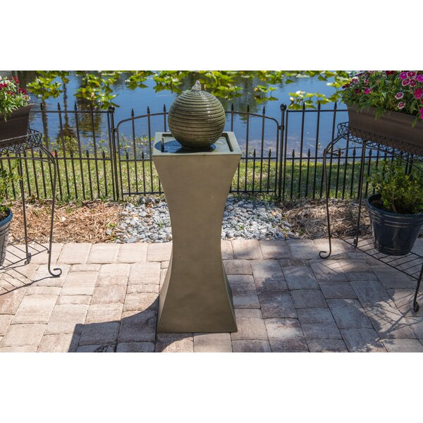 Resin Solar Barcaccia Outdoor Fountain With Light