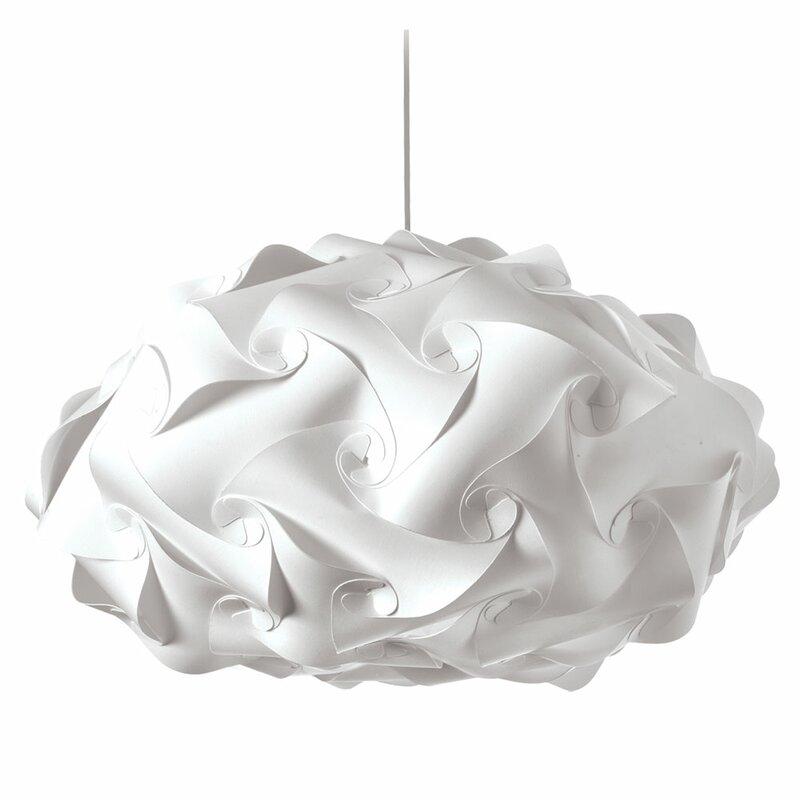 Orren Ellis Corvi 3-Light Shaded Geometric Chandelier