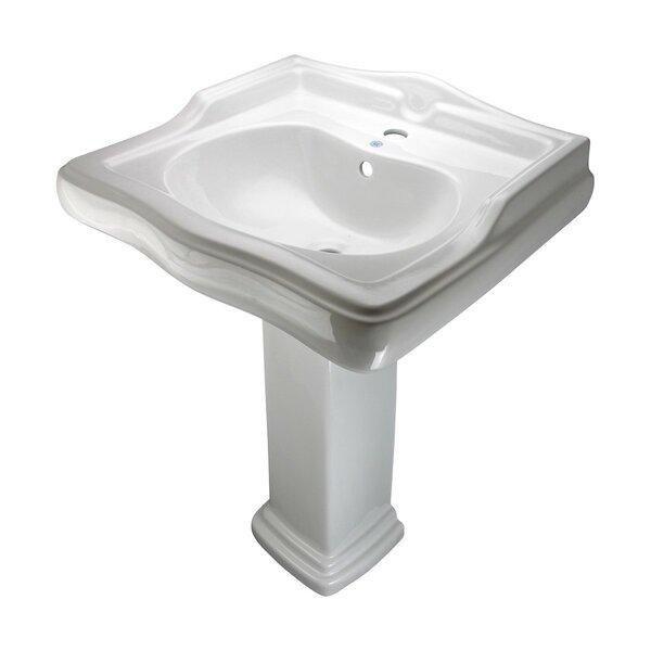 The Renovators Supply Inc Vitreous China 24 5 Pedestal Bathroom Sink And Overflow Wayfair