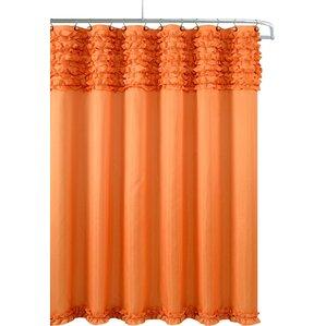 grey and orange shower curtain. Roderick Spa Shower Curtain Orange Curtains You ll Love  Wayfair