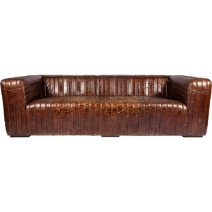 Andréa Leather Sofa by 17 Stories 2019 Coupon