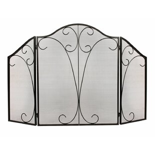 3 Panel Steel Fireplace Screens By 1. GO