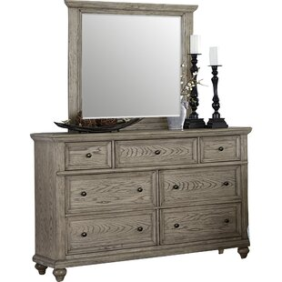 Lorsworth 7 Drawer Double Dresser with Mirror by Greyleigh