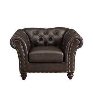 Parth Leather Club Chair by Darby Home Co