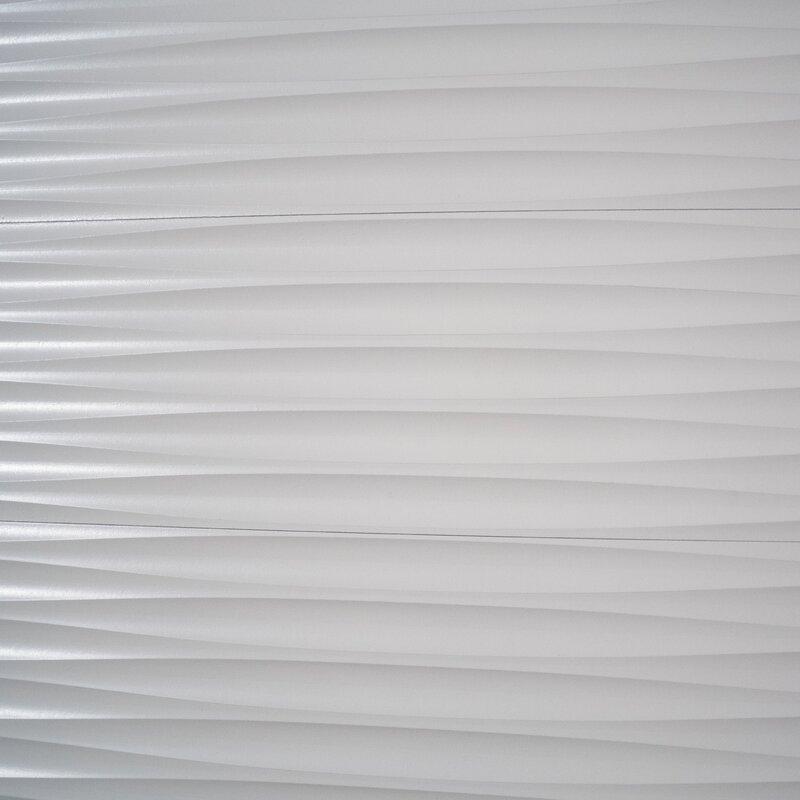 Ninth Vine 5 75 X 47 Peel And Stick Engineered Wood Wall Paneling In White Wayfair
