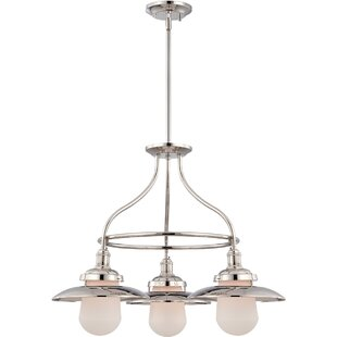 Kedzie 3-Light Wagon Wheel Chandelier by ..