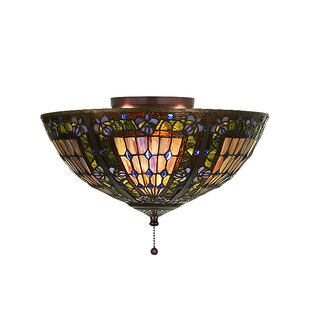 Meyda Tiffany 3-Light Semi Flush Mount