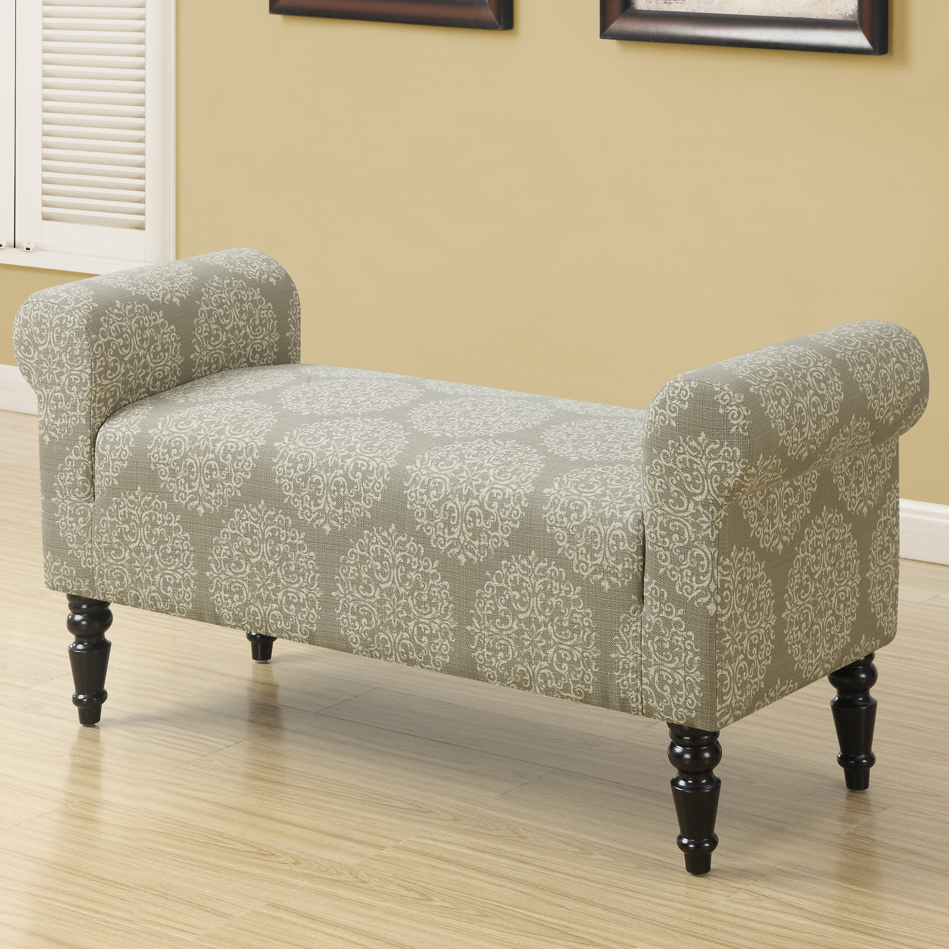 Monarch Specialties Inc. Taupe Fabric Bench & Reviews | Wayfair