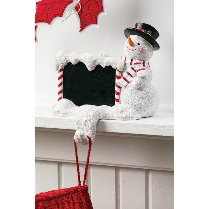 Christmas Stocking Holder.Snowman Personalizable Stocking Holder