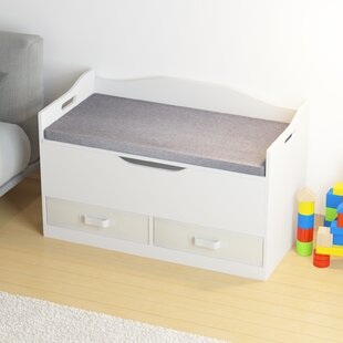 Brown Productworld258 Wooden Toy Box Kids Storage Chest Bench
