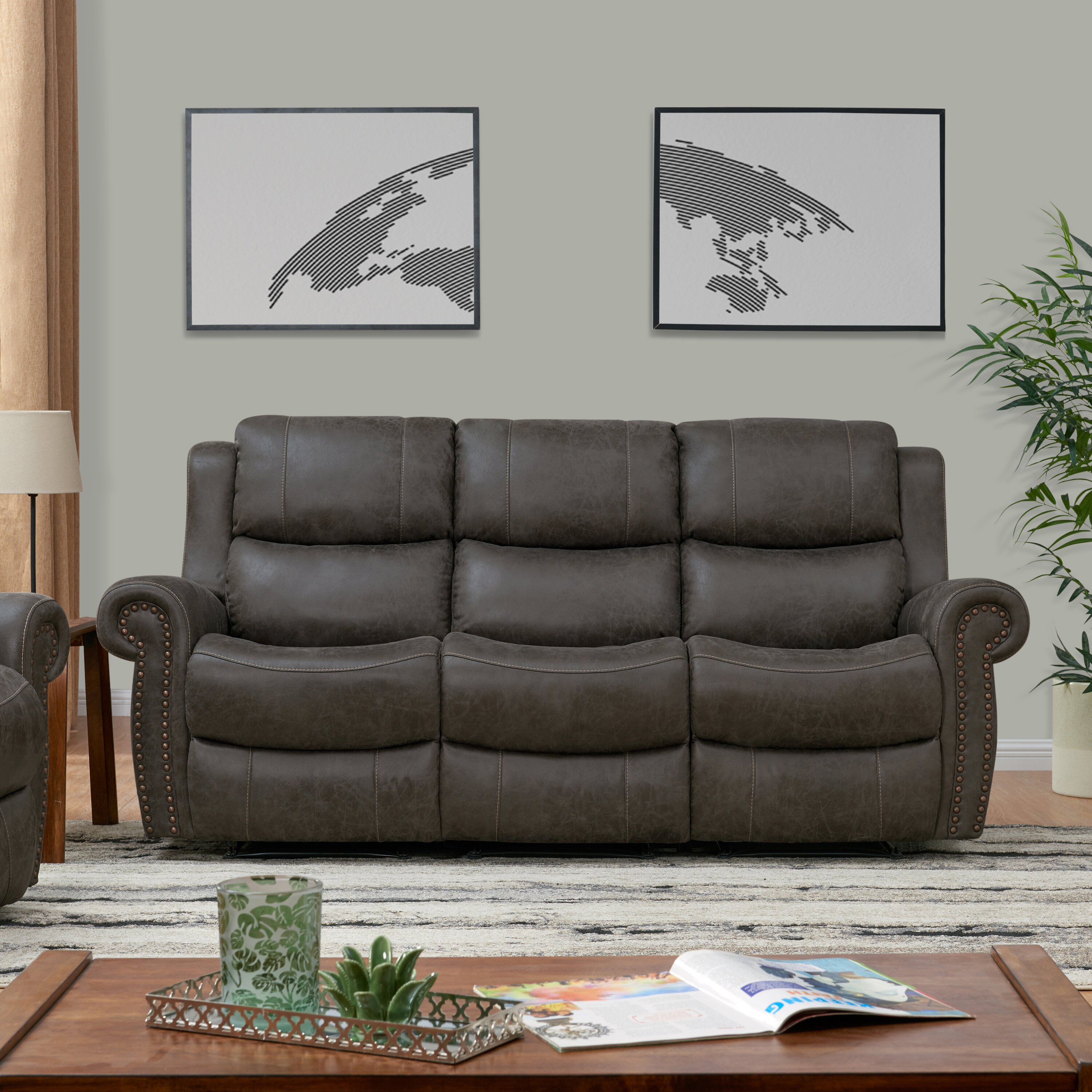 Canora Grey Rolled Home Theater Sofa