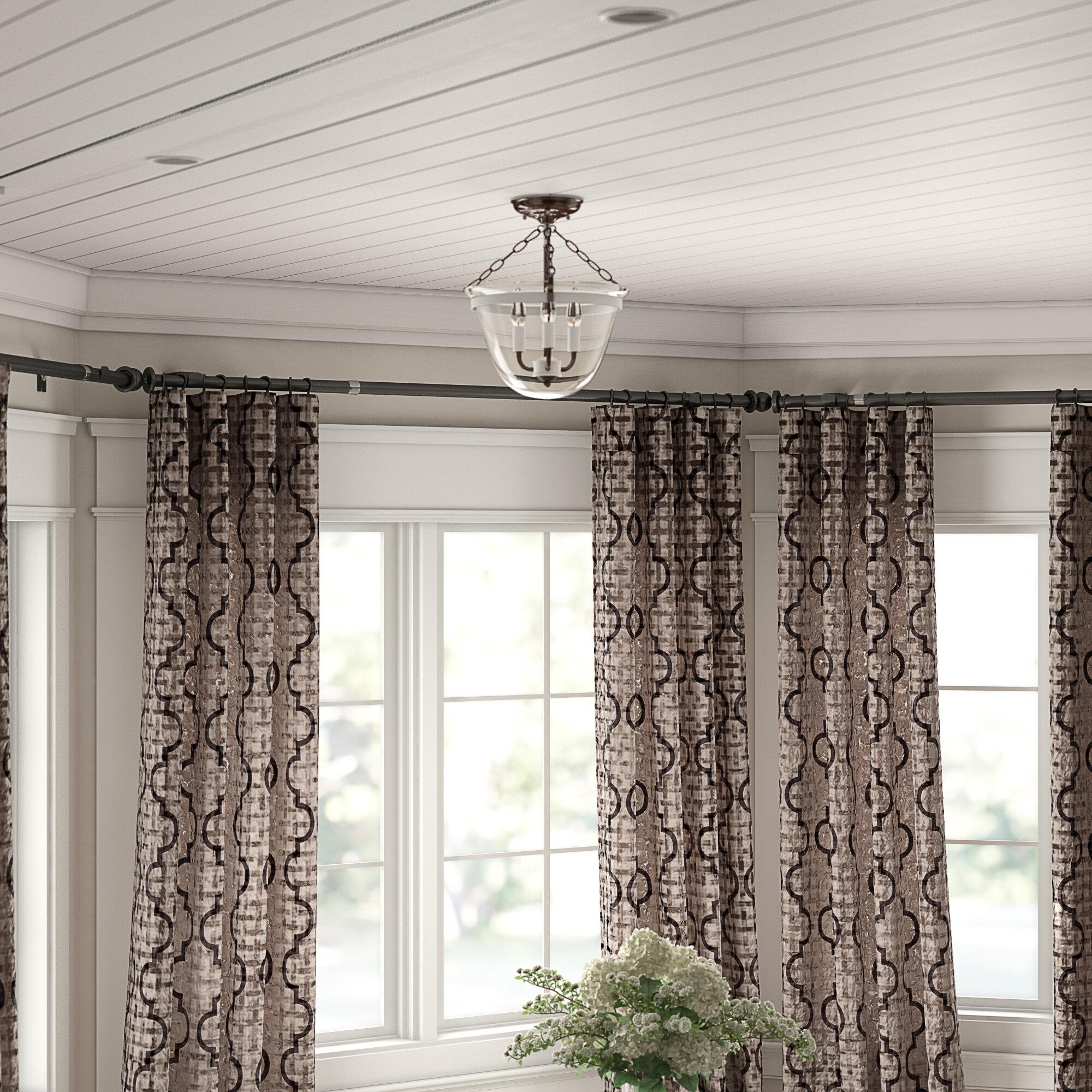 Leavy Bay Window Single Curtain Rod Hardware Set Reviews