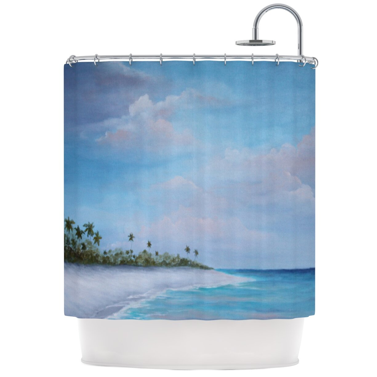 KESS InHouse Carefree Caribbean Shower Curtain