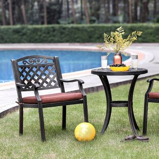 New City 3 Piece Bistro Set with Cushions by Charlton Home