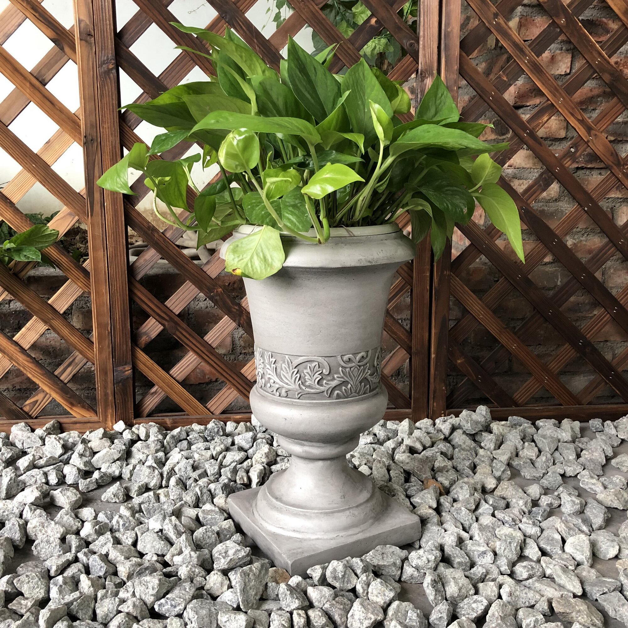 Broseley Tall Fancy Concrete Urn Planter