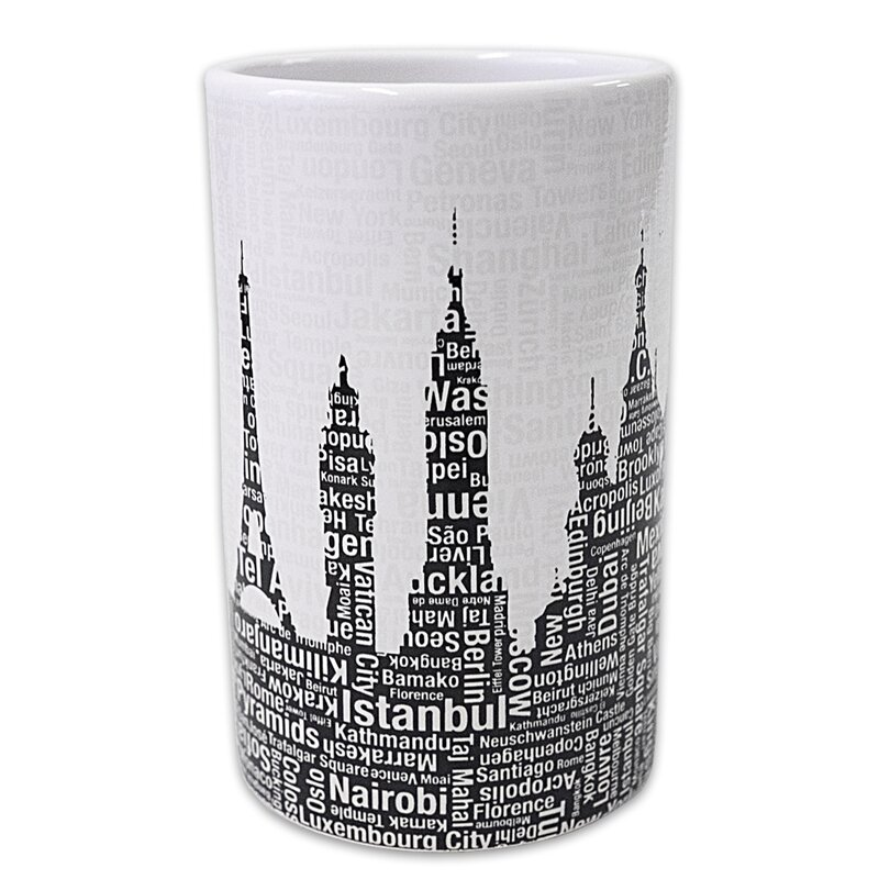 Ivy Bronx Elianna Silhouette City Resin Tumbler Wayfair