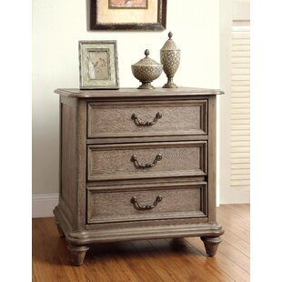 Geary 3 Drawer Nightstand