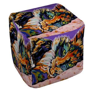 Calico Dreams Ottoman by Manual Woodworkers & Weavers