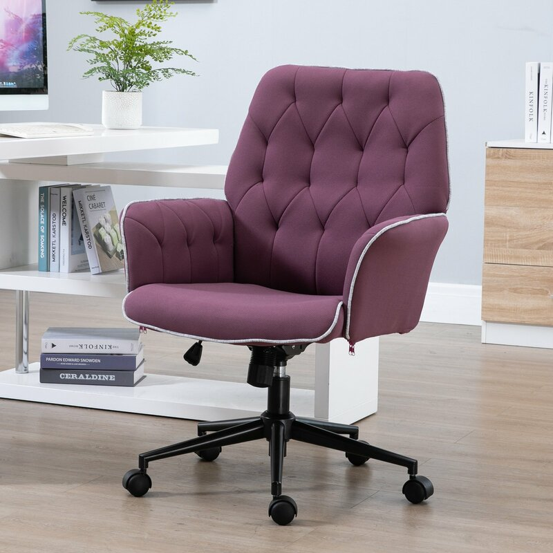 Vinsetto Mid Back Task Chair Reviews Wayfair