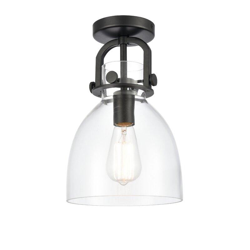 Breakwater Bay Yoder 1 Light 8 Simple Bell Semi Flush Mount Wayfair