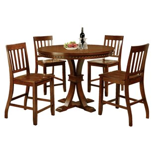 Jared 5 Piece Counter Height Dining Set Hokku Designs
