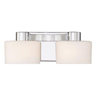 Polished chrome vanity light wayfair myrtlewood polished chrome 2 light vanity light aloadofball Choice Image