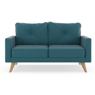 Coyer Oxford Weave Loveseat Corrigan Studio