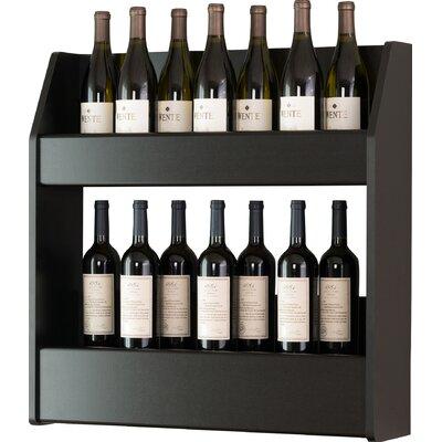 Ebern Designs Kinard 24 Bottle Wall Mounted Wine Rack Finish: Black