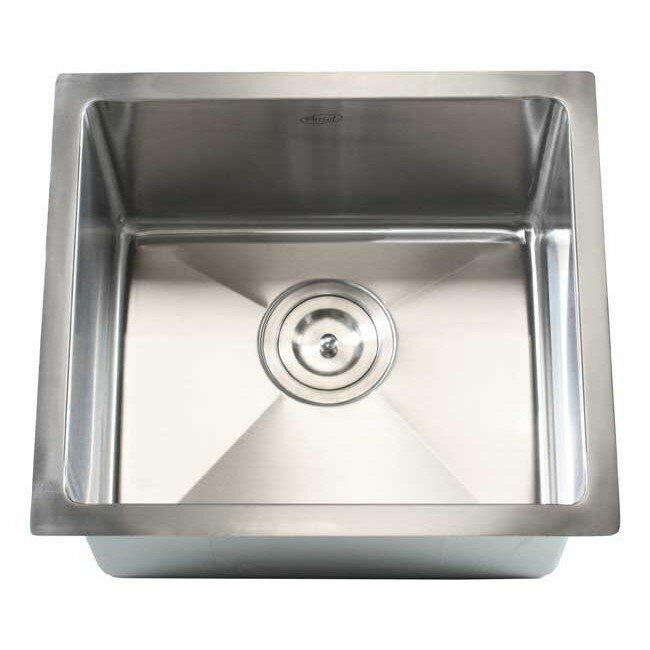 """Undermount Kitchen Single Sink emodern decor ariel 17"""" x 15"""" single bowl undermount kitchen sink"""