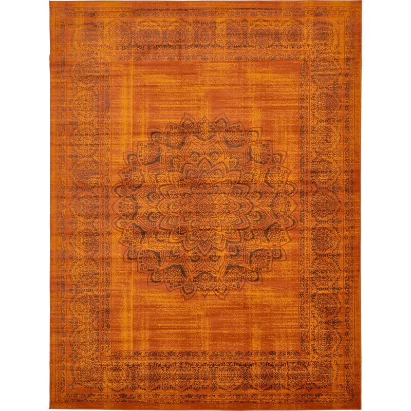 Linoleum Rug Turquoise Terracotta Area Rug Or Kitchen Mat: Mistana Neuilly Terracotta/Brown Area Rug & Reviews