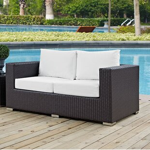 Provencher Patio Loveseat with Cushions by Latitude Run