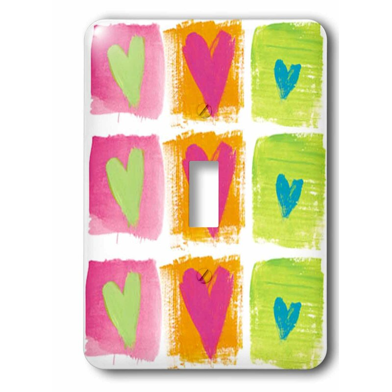 3drose Switch All Hearts 1 Gang Toggle Light Switch Wall Plate Wayfair