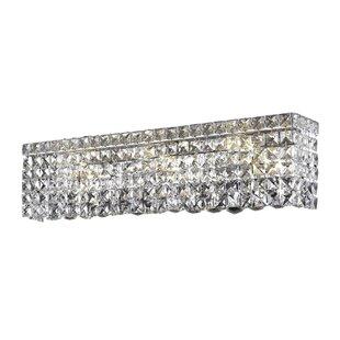 Top Reviews Bratton 4-Light Chrome Wall Sconce By Rosdorf Park