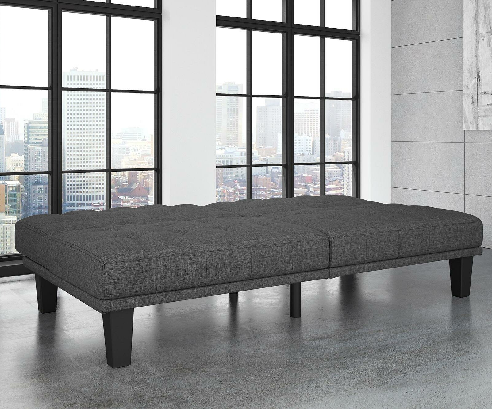Wade Logan Haysi Futon Lounger Convertible Sofa U0026 Reviews | Wayfair